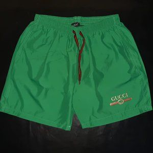 GUCCI MEN GREEN SWIM TRUNKS